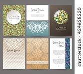 set of vector design templates. ... | Shutterstock .eps vector #424638220