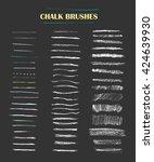 set of vector grungy chalk art... | Shutterstock .eps vector #424639930