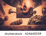 desktop for craft jewellery... | Shutterstock . vector #424640539