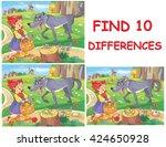 find ten differences. little... | Shutterstock . vector #424650928