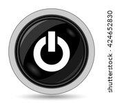 power button icon. internet... | Shutterstock . vector #424652830