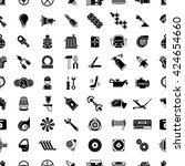 car spare parts seamless... | Shutterstock .eps vector #424654660