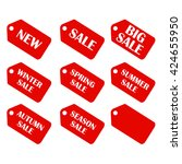 discount sale price tags labels ... | Shutterstock .eps vector #424655950