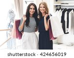 shopping with friend is pure... | Shutterstock . vector #424656019