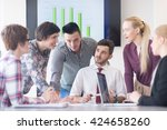 startup business  young... | Shutterstock . vector #424658260