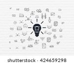 business concept  painted black ... | Shutterstock . vector #424659298