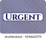 urgent badge with denim texture   Shutterstock .eps vector #424662070