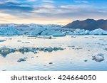 beautiful view of icebergs in... | Shutterstock . vector #424664050