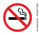 no smoking sign  no smoking icon | Shutterstock .eps vector #424667260