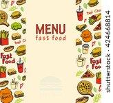 Fast Food Doodles Elements...