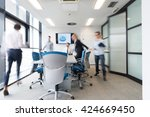 startup business  young... | Shutterstock . vector #424669450