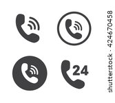 phone icons set vector...