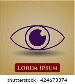 eye icon   Shutterstock .eps vector #424673374
