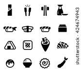 japanese food sushi sashimi... | Shutterstock .eps vector #424674943