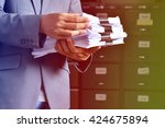 Small photo of document management,Businessman examining documents