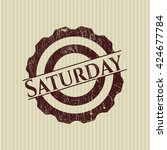 saturday rubber grunge texture... | Shutterstock .eps vector #424677784