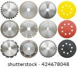 circilar saw blades for wood... | Shutterstock . vector #424678048