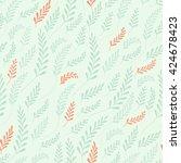 vector hand drawn seamless...   Shutterstock .eps vector #424678423