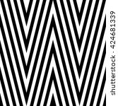 pattern stripe seamless black... | Shutterstock .eps vector #424681339