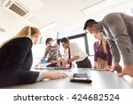 startup business  young... | Shutterstock . vector #424682524