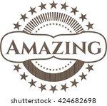amazing wood emblem   Shutterstock .eps vector #424682698