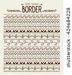 hand drawn vector border set...   Shutterstock .eps vector #424684228