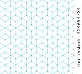cube and dot pattern background.... | Shutterstock .eps vector #424694734