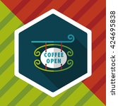 coffee shop signs flat icon... | Shutterstock .eps vector #424695838