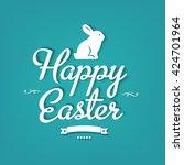 happy easter postcard  | Shutterstock . vector #424701964