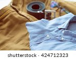 men's casual outfits background ... | Shutterstock . vector #424712323