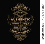 antique frame label vintage... | Shutterstock .eps vector #424714180