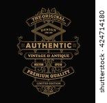antique frame label vintage... | Shutterstock .eps vector #424714180