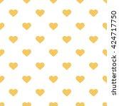 orange seamless heart pattern | Shutterstock .eps vector #424717750