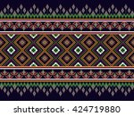 geometric ethnic oriental... | Shutterstock .eps vector #424719880
