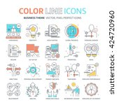 color line  business... | Shutterstock .eps vector #424720960