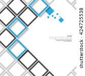 modern abstract digital squares ... | Shutterstock .eps vector #424725538