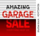 amazing garage sale poster... | Shutterstock .eps vector #424734436