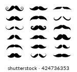 Big Set Of Mustaches Black...