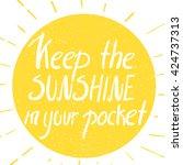 sunshine poster. hand drawn... | Shutterstock .eps vector #424737313