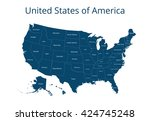 map of the usa. image with... | Shutterstock .eps vector #424745248