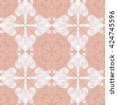 seamless lace pattern   Shutterstock .eps vector #424745596