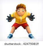 little goalkeeper  vector icon | Shutterstock .eps vector #424750819