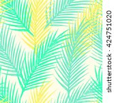seamless tropical pattern with... | Shutterstock .eps vector #424751020