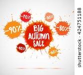 big autumn sale badge  label.... | Shutterstock .eps vector #424751188