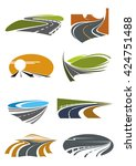 Road Landscapes Icons For...