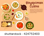 singaporean seafood with chilli ...   Shutterstock .eps vector #424752403