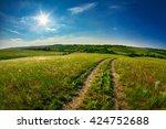 design element. dirt road image | Shutterstock . vector #424752688