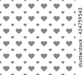 black seamless heart pattern | Shutterstock .eps vector #424759543