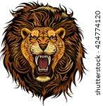 lion king face | Shutterstock .eps vector #424774120