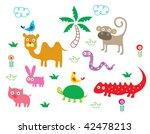 animals poster | Shutterstock .eps vector #42478213